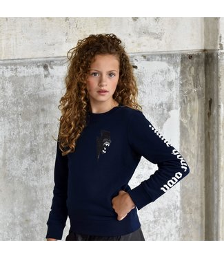 My Own Meisjes sweater - Leona - Gorilla navy