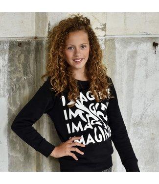 My Own Meisjes sweater - Ruby - Zwart / wit