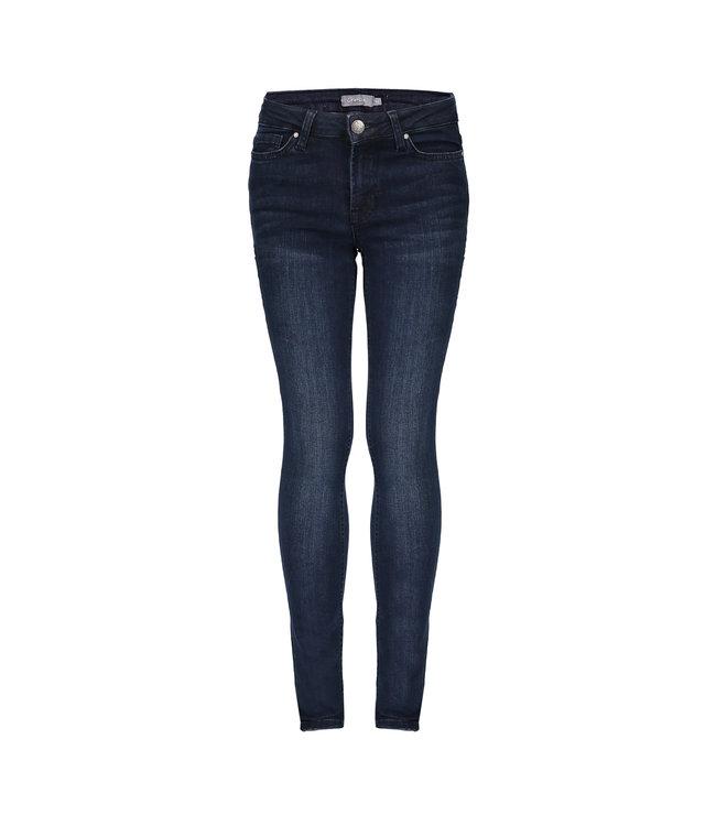 Geisha Meisjes jeans broek 5-pocket - Blauw / Zwart denim