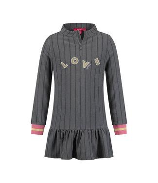 MAYCE Girlslabel Meisjes jurk - Grijs