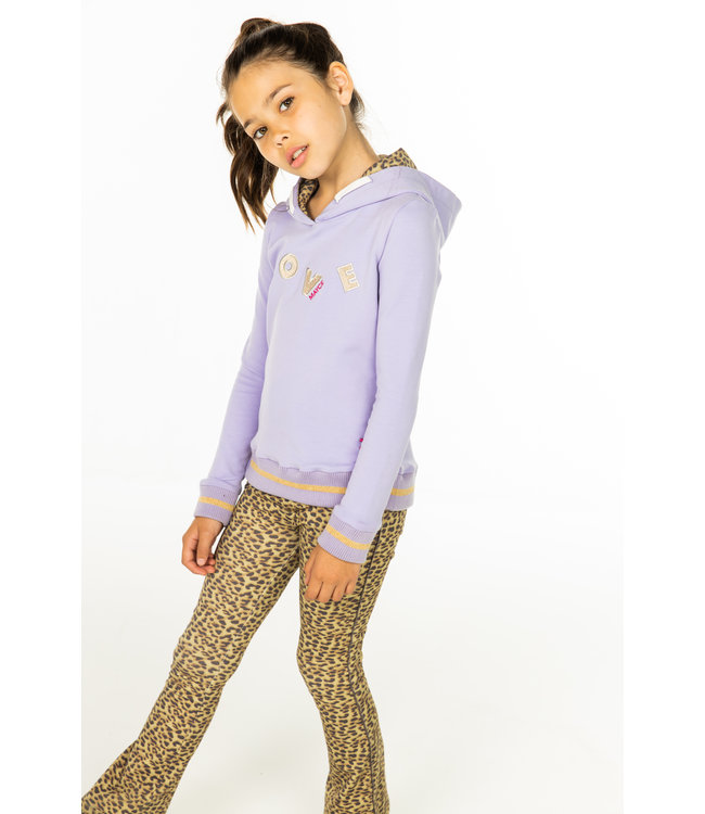 MAYCE Girlslabel Meisjes hoodie - Sweet lavender