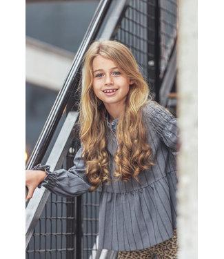 MAYCE Girlslabel Meisjes blouse flowy - Grijs