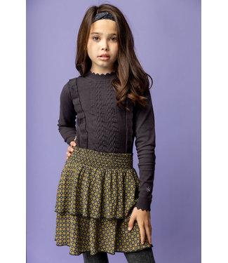 MAYCE Girlslabel Meisjes trui gebreid - Donker grijs