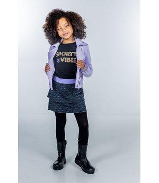 MAYCE Girlslabel Meisjes jurk sweat - Donker grijs