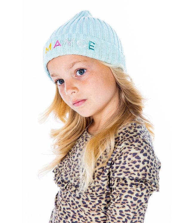 MAYCE Girlslabel Meisjes beanie - Aqua