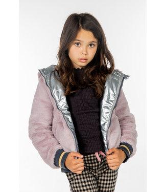 MAYCE Girlslabel Meisjes winterjas reversibel - Reversible