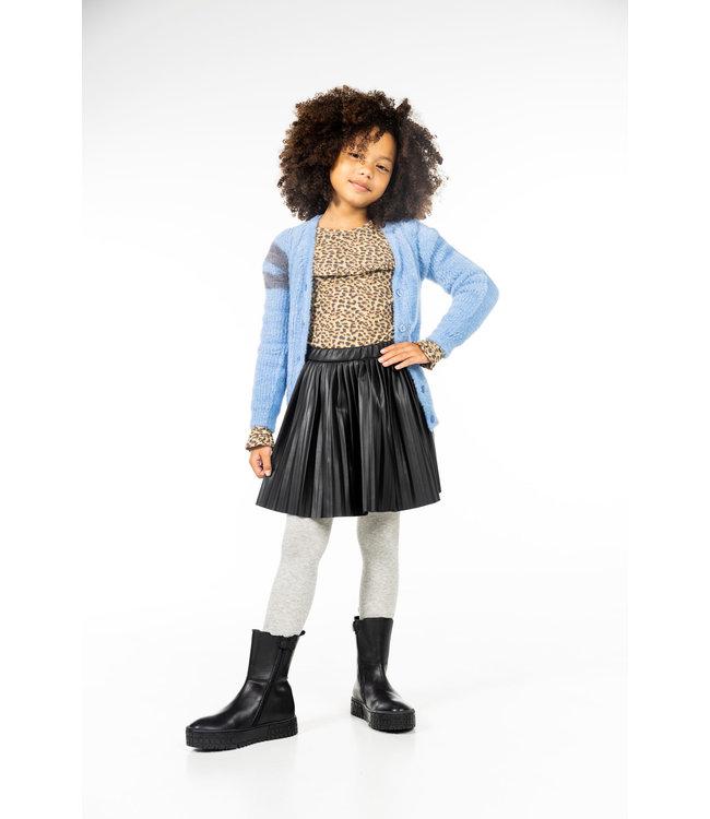 MAYCE Girlslabel Meisjes vest gebreid - Aqua