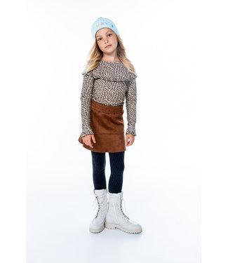 MAYCE Girlslabel Meisjes shirt - Animal bruin
