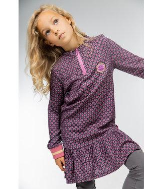 MAYCE Girlslabel Meisjes jurk - Figures roze