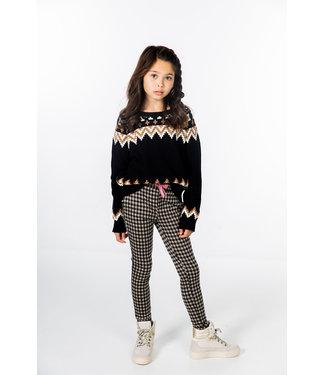 MAYCE Girlslabel Meisjes trui gebreid - Zwart oversized