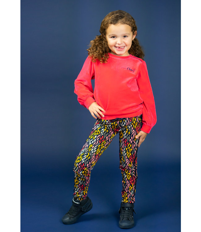 Chaos and Order Meisjes Sweater velours - Kina rood