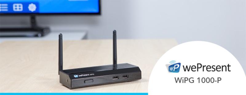 WePresent kondigt nieuwe functies vernieuwde WiPG 1000-P aan.