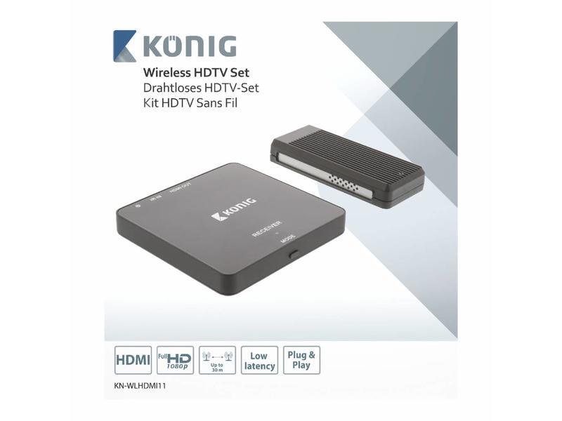 König König KN-WLHDMI11 Draadloze HDMI Zender 1080p - Bereik 30 m