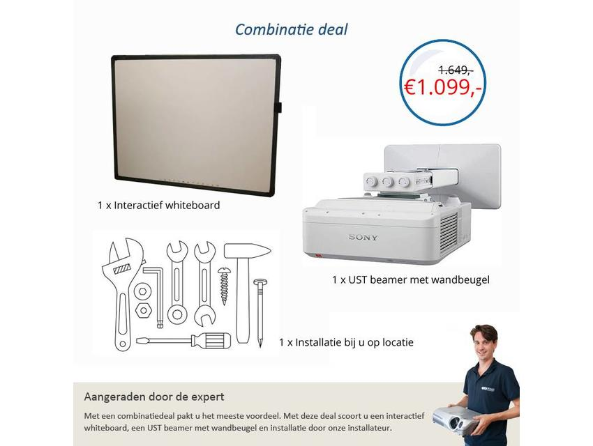 Combinatiedeal Sony + Interactive Whiteboard