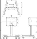 Legamaster Legamaster EHA universele mobiele vloerlift voor 46-86 inch