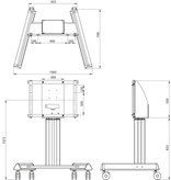 Legamaster Legamaster EHA universele mobiele vloerlift voor PTX-9800UHD