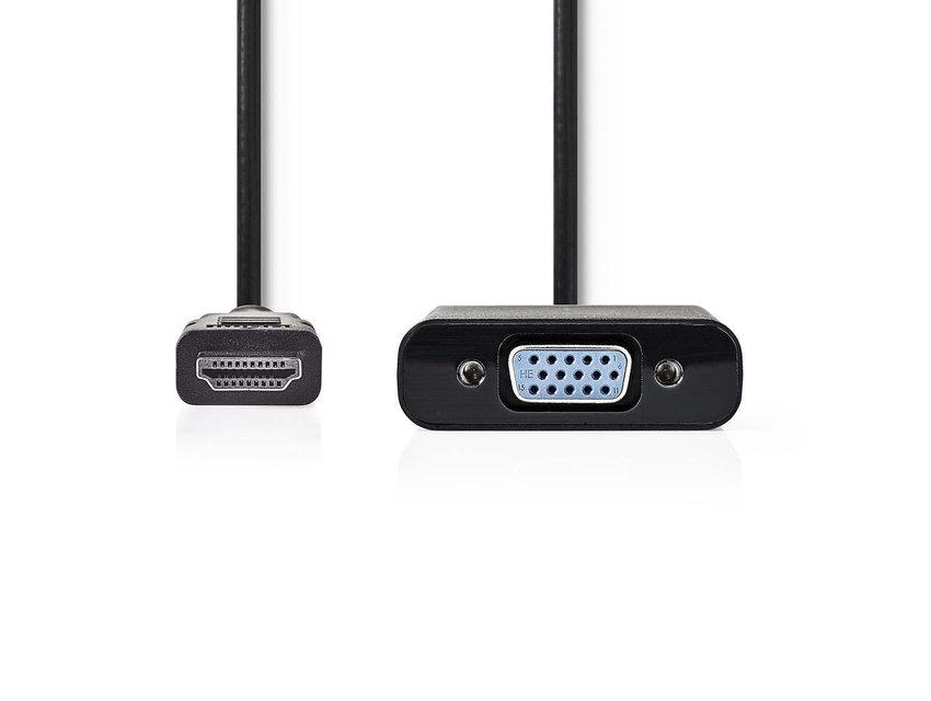 Nedis VGA-HDMI kabel 20 cm