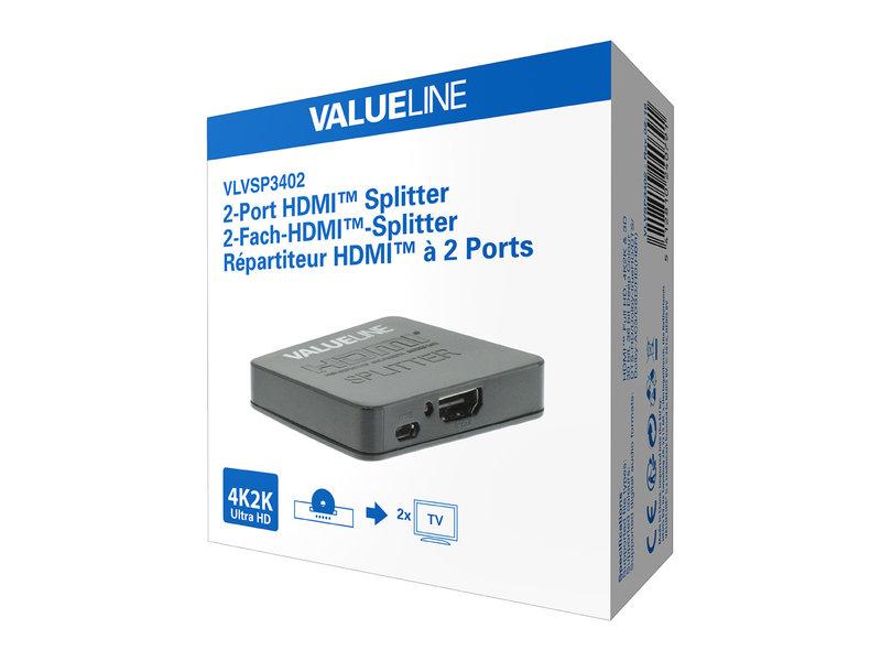 Valueline Valueline 2-poorts HDMI splitter