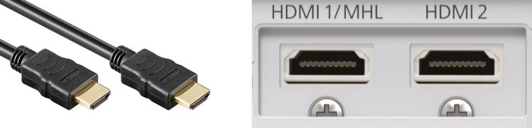 HDMI aansluiting beamer