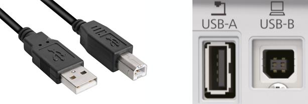 USB aansluiting beamer