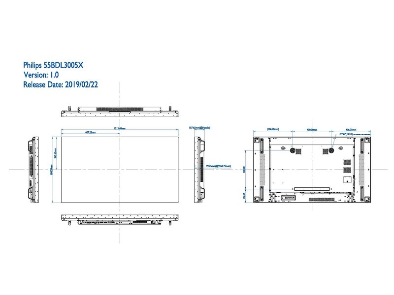 Philips Philips 55BDL3005X X-Line Full HD videowall display