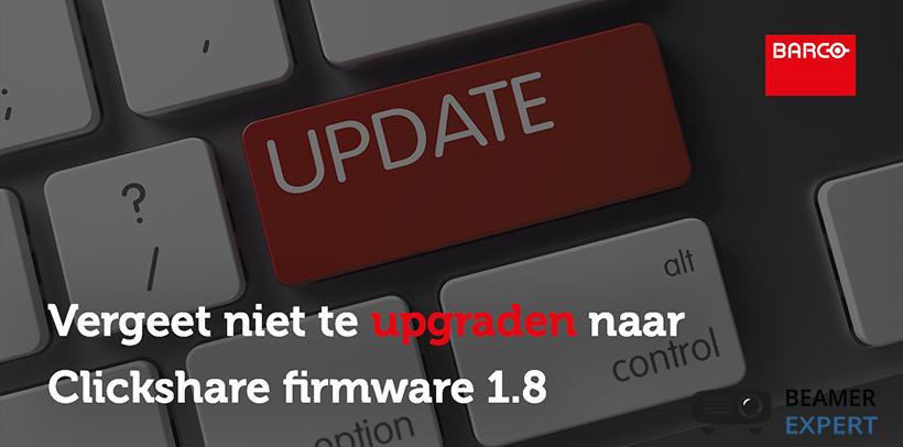 Barco Clickshare update firmware beschikbaar