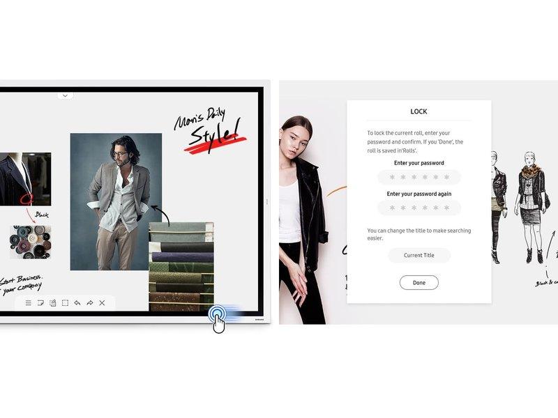 Samsung Samsung Flip 55 inch samen met STN-WM55R