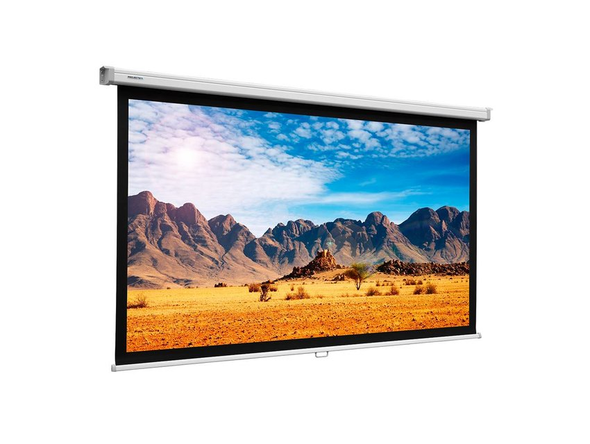 Projecta Slimscreen video mat wit zonder rand