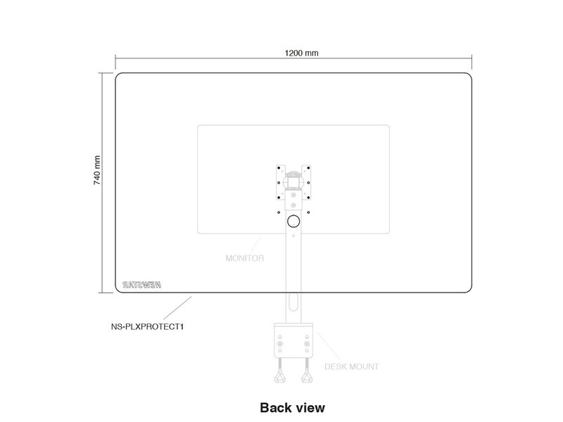 Newstar Newstar NS-PLXPROTECT1 transparant scherm