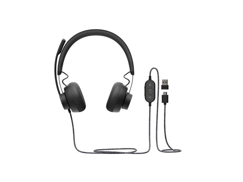 Logitech Logitech Zone Wired headset met draad 981-000875