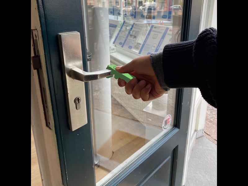 Mobiele deuropener Febris PLActive antimicrobieel groen