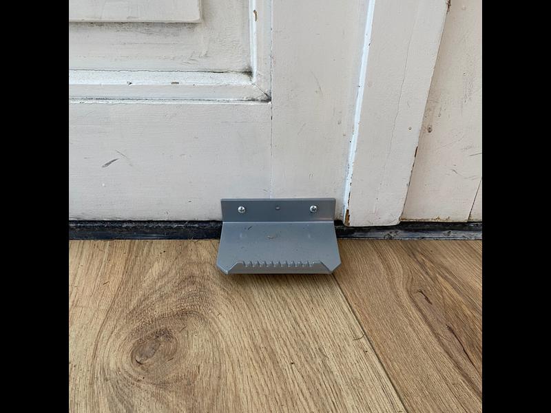 Voetgreep deuropener grijs