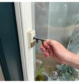 Mobiele deuropener Paean zilver black look met touchscreen ondersteuning