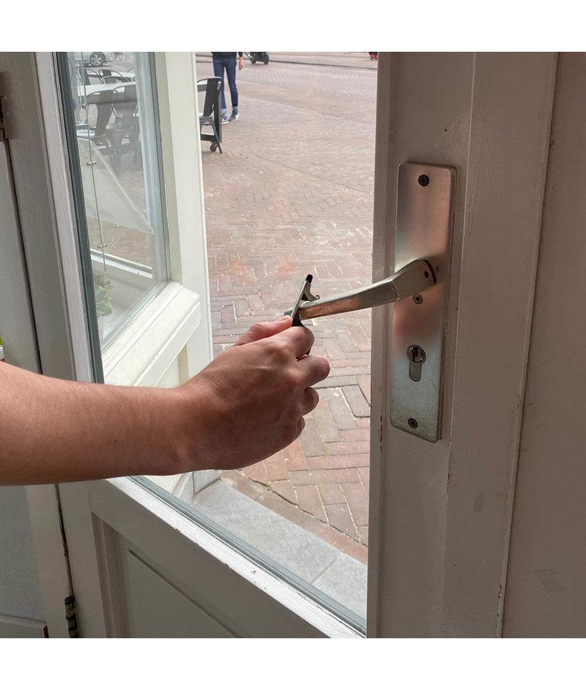 Mobiele deuropener Paean zilver