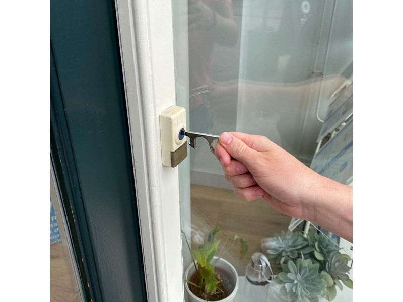 Mobiele deuropener Paean zilver met touchscreen ondersteuning