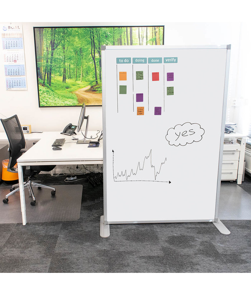 Scheidingswand whiteboard set