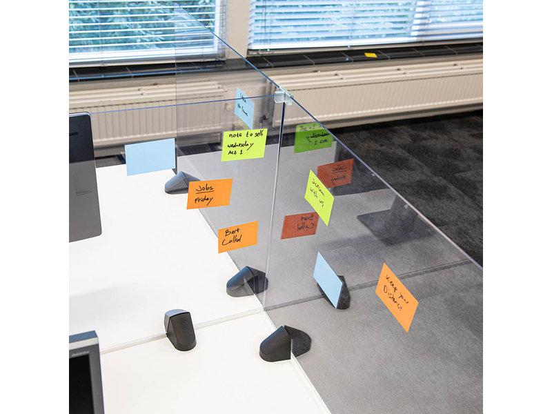 Scheidingsscherm bureauklem plexiglas