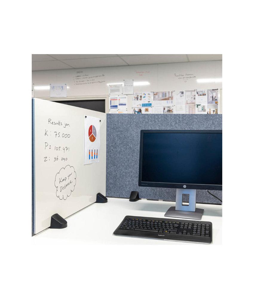 Scheidingsscherm bureauklem whiteboard/prikbord