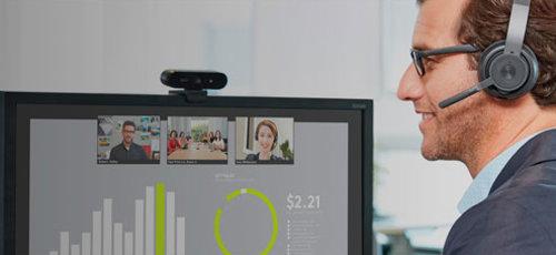 Kits met headset en webcam