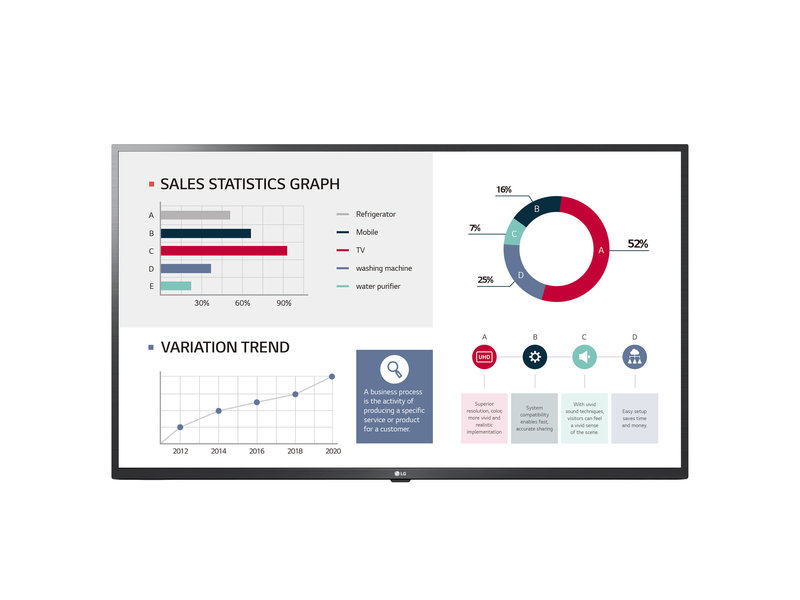 LG LG 75UL3G-B 75 inch 4K-UHD monitor