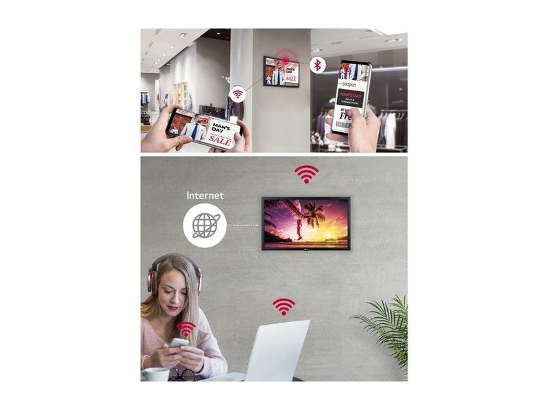 LG LG 22SM3G 22 inch bewegwijzering voor commerciële ruimtes