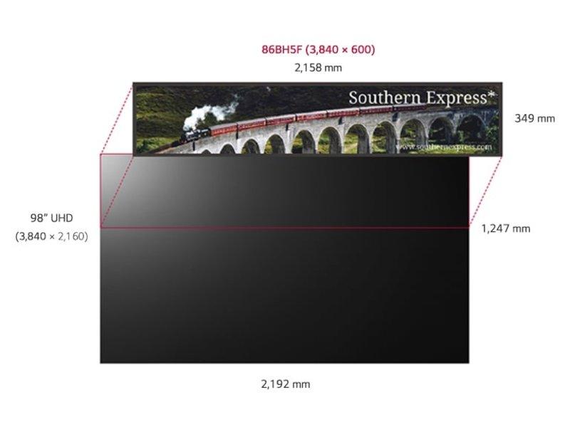 LG LG 86BH5F Ultra ruimtelijke breedbeeldscherm