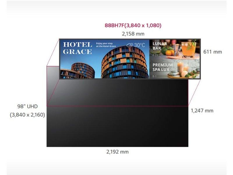 LG LG 88BH7F Ultra ruimtelijke breedbeeldscherm