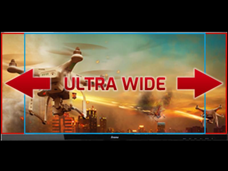 iiyama iiyama G-MASTER GB3466WQSU-B1 UltraWide Gebogen Quad HD LED computer monitor
