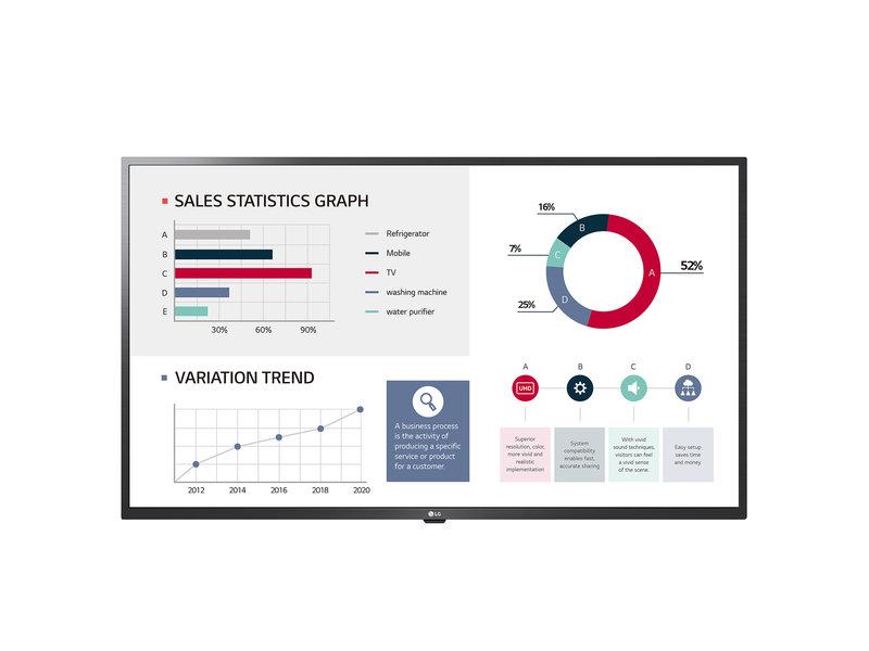 LG LG 43UL3G Basic 4k Ultra HD groot scherm