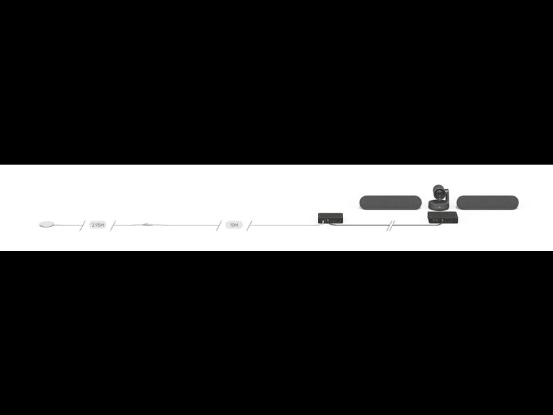 Logitech Verlengkabel voor Rally Mic Pod van 10 meter