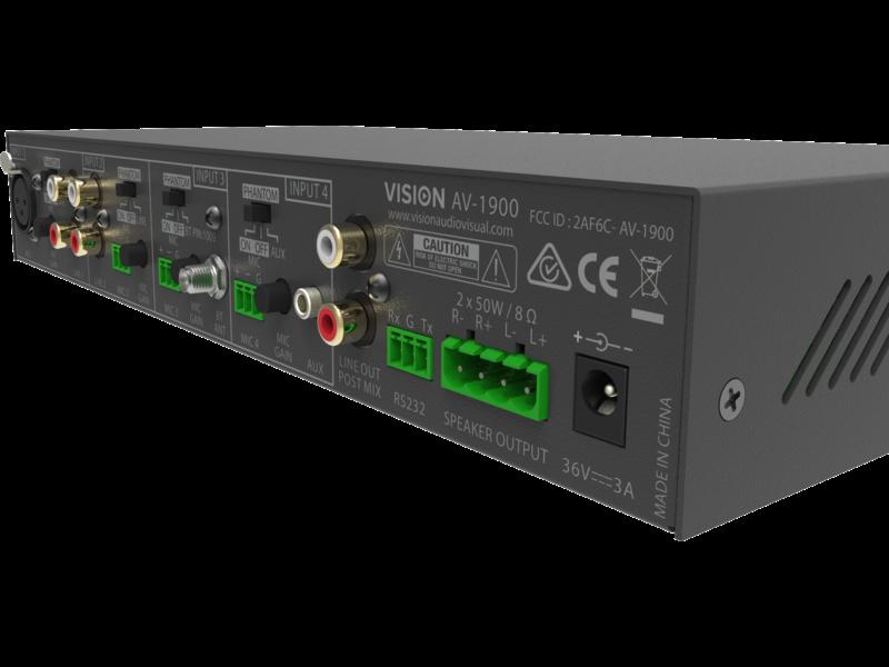 Vision Vision AV-1900 audiomixer-versterker