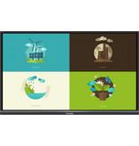 Viewsonic ViewBoard IFP6550-3 UHD UFT 4-way split display