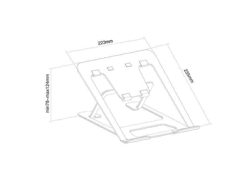 Newstar NewStar NSLS085BLACK notebook standaard