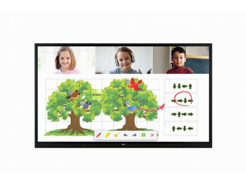 "LG LG 55TR3BG interactief 55"" UHD display"